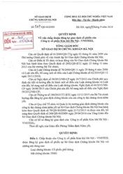 Quyết định về việc chấp thuận đăng ký giao dịch cổ phiếu