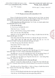 THÔNG BÁO VỀ VIỆC ĐẤU GIÁ XE Ô TÔ CON 4 CHỖ VÀ MÁY BIẾN ÁP 3 PHA