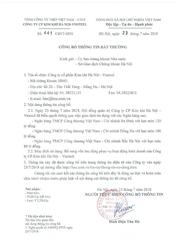 Công bố thông tin bất thường ngày 23 tháng 7 năm 2018